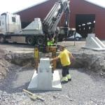 Halmlada under konstruktion